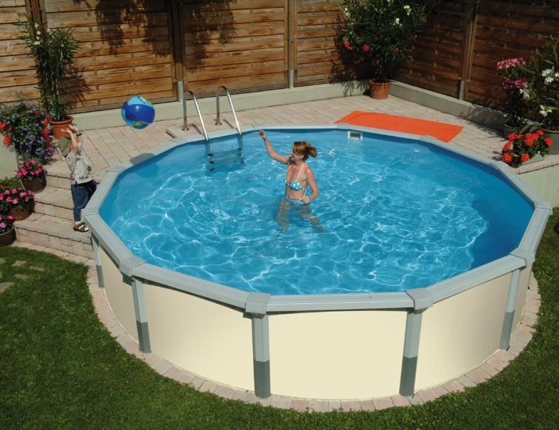 Poolinsel baumgartner poolundzubehoer pools for Swimmingpool stahlwandbecken rund
